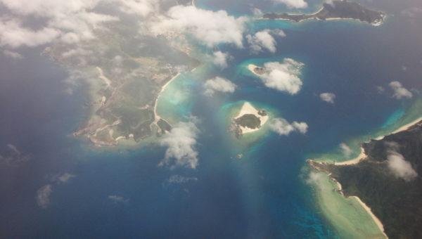 慶良間諸島のグラデーション