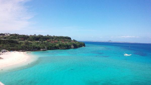 沖縄の瀬底島の「きれいな海」