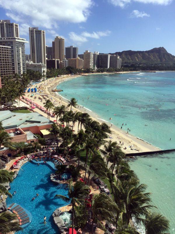ハワイの海のグラデーション
